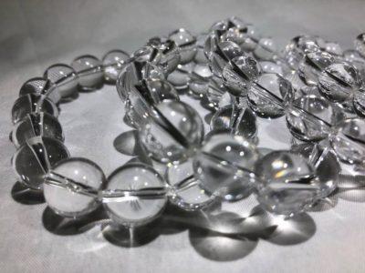レア!!ホットスプリングス産水晶を贅沢なブレスレットに!!